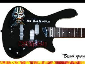 Роспись гитары акриловыми красками «Iron Maiden». Ярмарка Мастеров - ручная работа, handmade.