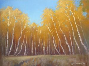 Как нарисовать осенний пейзаж пастелью. Ярмарка Мастеров - ручная работа, handmade.