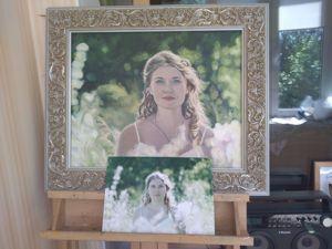 Видеоролик-Пишу женский портрет, интуитивная живопись Анны Буркиной. Ярмарка Мастеров - ручная работа, handmade.