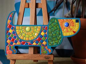 Как сделать мозаичную миниатюру Таксу. Ярмарка Мастеров - ручная работа, handmade.