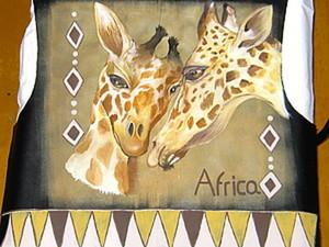 Расписываем жакет в африканском стиле. Ярмарка Мастеров - ручная работа, handmade.