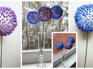 Очень легко и просто делаем оригинальные цветы из ватных палочек: видеоурок. Ярмарка Мастеров - ручная работа, handmade.