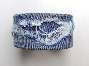 Создаем браслет из старых джинсов. Ярмарка Мастеров - ручная работа, handmade.