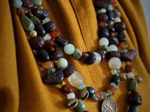 Украшения в дрвнерусском духе в колорите новых рубах. Ярмарка Мастеров - ручная работа, handmade.