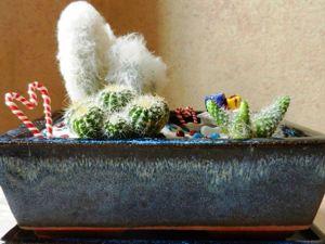 Делаем новогодний минисадик в подарок. Ярмарка Мастеров - ручная работа, handmade.