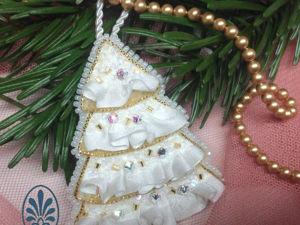 Вышиваем новогоднее украшение — елочку. Ярмарка Мастеров - ручная работа, handmade.