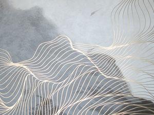 Картина  «Шоколад и молоко»  золотые линии. Ярмарка Мастеров - ручная работа, handmade.