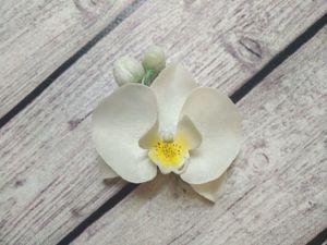 Делаем брошь  «Орхидея». Ярмарка Мастеров - ручная работа, handmade.