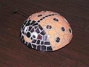 How to Make a Garden Sculpture Called Ladybug Dottie. Livemaster - handmade