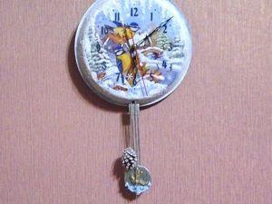 Создаем настоящие новогодние часы с маятником на сковороде. Ярмарка Мастеров - ручная работа, handmade.