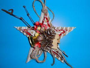 Изготавливаем Рождественскую звезду из доступных материалов. Ярмарка Мастеров - ручная работа, handmade.