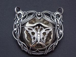 Кулон Бабочка. Ярмарка Мастеров - ручная работа, handmade.