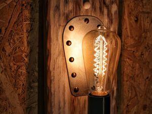 Светильник настенный двойной. Ярмарка Мастеров - ручная работа, handmade.