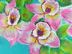 Украшаем кофту росписью «Орхидеи». Часть1. Ярмарка Мастеров - ручная работа, handmade.
