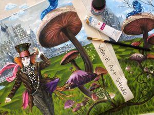 Шляпник из  «Алиса в Стране Чудес»  ручная роспись. Ярмарка Мастеров - ручная работа, handmade.
