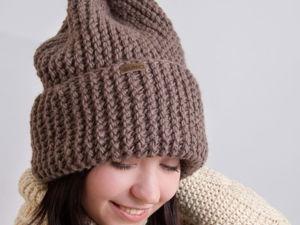 Вяжем шапочку бини. Ярмарка Мастеров - ручная работа, handmade.