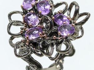 Скидка 20% на серебряное кольцо Звездное небо, размер 17,5. Ярмарка Мастеров - ручная работа, handmade.