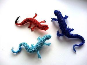 Оригинальные броши-ящерицы из мельчайшего японского бисера по 500 рублей каждая!. Ярмарка Мастеров - ручная работа, handmade.
