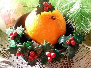 """""""Рождественский остролист"""". Шпильки в волосы. Ярмарка Мастеров - ручная работа, handmade."""