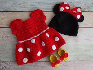 Вяжем шапку Мини Маус для Baby Born. Ярмарка Мастеров - ручная работа, handmade.