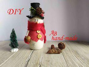 Снеговик из пластиковой бутылки. Ярмарка Мастеров - ручная работа, handmade.