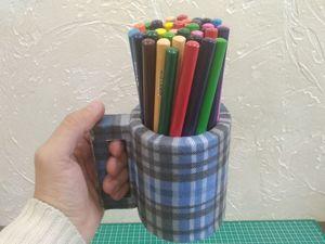Мастерим органайзер для карандашей. Ярмарка Мастеров - ручная работа, handmade.