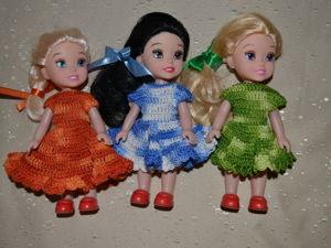 Как связать простое платье для куклы крючком. Ярмарка Мастеров - ручная работа, handmade.