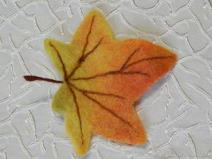 Валяем реалистичный осенний лист. Ярмарка Мастеров - ручная работа, handmade.