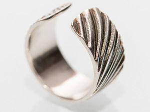 Мастерим разжимное кольцо из пластичного серебра EZ960. Ярмарка Мастеров - ручная работа, handmade.