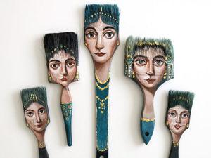 Удивительные портреты на неожиданных предметах художницы Alexandra Dillon. Ярмарка Мастеров - ручная работа, handmade.