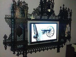 "Мастерим рамку для зеркала или телевизора ""Persian overmantel"". Ярмарка Мастеров - ручная работа, handmade."