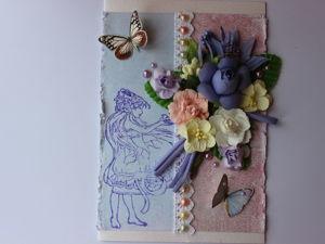 Делаем открытку в технике скрапбукинг  «Фея». Ярмарка Мастеров - ручная работа, handmade.