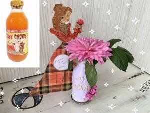 Видеоурок: быстрый способ декорировать бутылки. Ярмарка Мастеров - ручная работа, handmade.