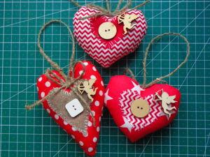 Шьем ёлочную игрушку «Хлопковое сердце». Ярмарка Мастеров - ручная работа, handmade.