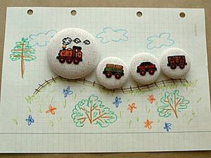Magnetic Train, or How to Decorate a Magnet with Embroidery. Livemaster - handmade