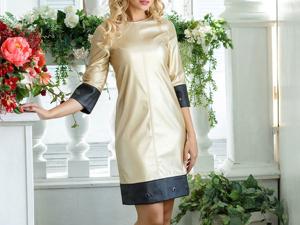 Аукцион на  платье из искусственной кожи! Старт 2500 руб.!. Ярмарка Мастеров - ручная работа, handmade.