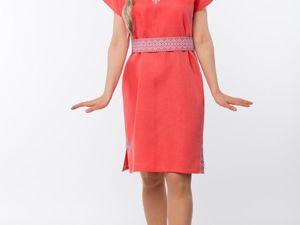 Платье Льняное Шафран. Ярмарка Мастеров - ручная работа, handmade.