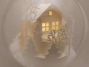 Создаем елочный шар с подсветкой «Волшебная избушка». Ярмарка Мастеров - ручная работа, handmade.