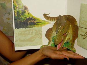 Делаем открытку с объемным динозавром. Ярмарка Мастеров - ручная работа, handmade.