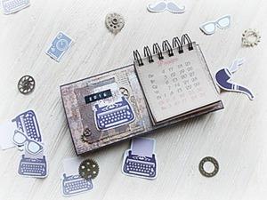 Делаем настольный календарь. Ярмарка Мастеров - ручная работа, handmade.