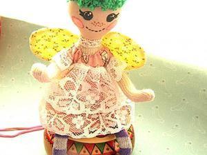 Мастерим куклу-подвеску «Бабочка» по мотивам Лалалупси. Ярмарка Мастеров - ручная работа, handmade.