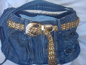 Модная сумка из старых джинсов. Ярмарка Мастеров - ручная работа, handmade.