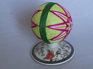Темари. Вышивка классической кику. Ярмарка Мастеров - ручная работа, handmade.