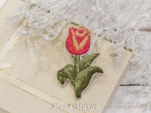 Видео броши Тюльпан. Ярмарка Мастеров - ручная работа, handmade.