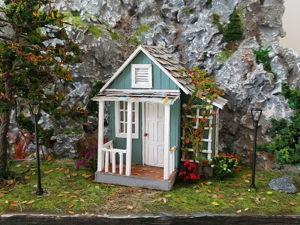 Создаем миниатюрный домик своими руками. Ярмарка Мастеров - ручная работа, handmade.