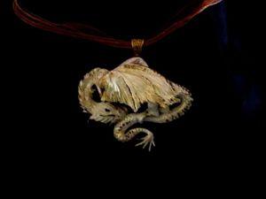 Колье «Дракон» из полимерной глины. Ярмарка Мастеров - ручная работа, handmade.