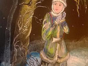 Мастер-класс: роспись деревянной доски «Снегурочка». Часть 1. Ярмарка Мастеров - ручная работа, handmade.
