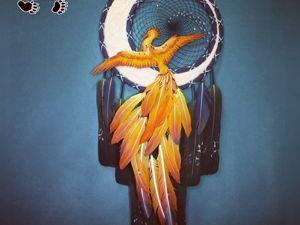 Ловец снов  «Сказочная птица». Ярмарка Мастеров - ручная работа, handmade.