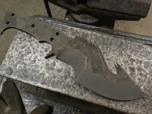 Клинок ножа орков Мордора после закалки. Ярмарка Мастеров - ручная работа, handmade.