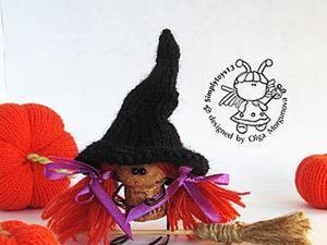 Мастерим ведьмочку из пробки, проволоки и пряжи. Ярмарка Мастеров - ручная работа, handmade.